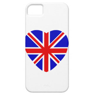 Union Jack flag in heart shape on iPhone 5/5s case