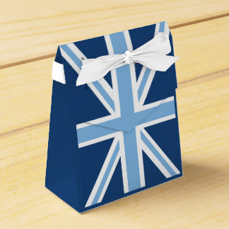 Union Jack Flag in Sky and Navy Blue Favour Box