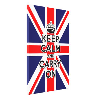 Union Jack flag keep calm and carry on Canvas Print