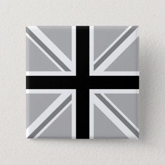 Union Jack/Flag Monochrome 15 Cm Square Badge