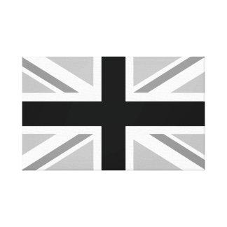 Union Jack/Flag Monochrome Canvas Print