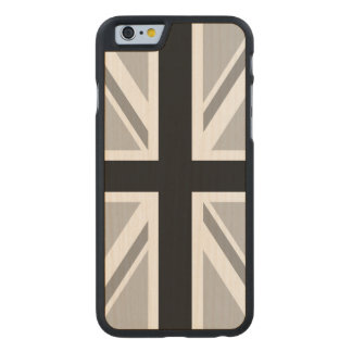 Union Jack/Flag Monochrome Carved Maple iPhone 6 Case