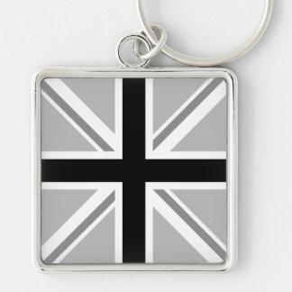 Union Jack/Flag Monochrome Key Ring