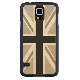 Union Jack/Flag Monochrome Maple Galaxy S5 Slim Case