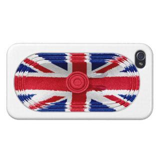 Union Jack Flag Of Great Britain Speaker iPhone 4 iPhone 4 Cases