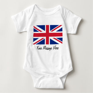 Union Jack Flag of Great Britain Toddler Infant Baby Bodysuit