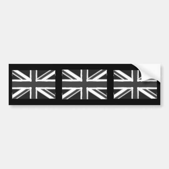 Union Jack flag of the UK - Chrome Bumper Sticker