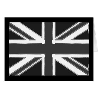 Union Jack flag of the UK - Chrome Card