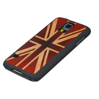 Union Jack Flag of the United Kingdom Carved® Cherry Galaxy S5 Case