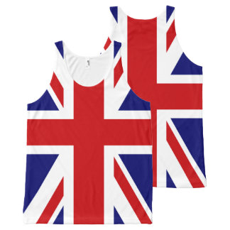 Union Jack Flag of UK All-Over Print Tank Top