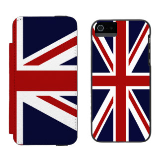 Union Jack Flag of UK Incipio Watson™ iPhone 5 Wallet Case