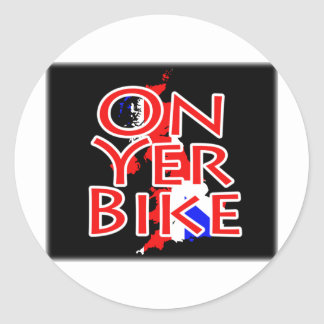 Union Jack Flag On Map Of Britain - On Yer Bike Stickers