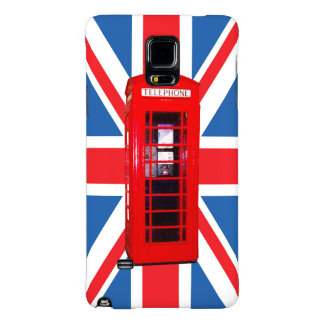 Union Jack/Flag & Phone Box Design Galaxy Note 4 Case