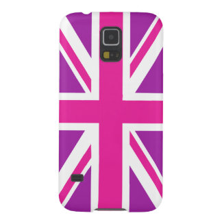 Union Jack Flag Pink, Purple & White Galaxy S5 Case