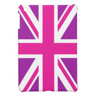 Union Jack Flag Pink, Purple & White iPad Mini Case