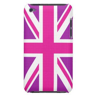 Union Jack Flag Pink, Purple & White iPod Case-Mate Case