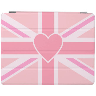 Union Jack/Flag Pinks & Heart (Horizontal) iPad Cover