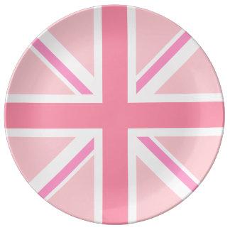 Union Jack/Flag Pinks Plate