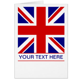 Union Jack Flag Plus Your Text Card