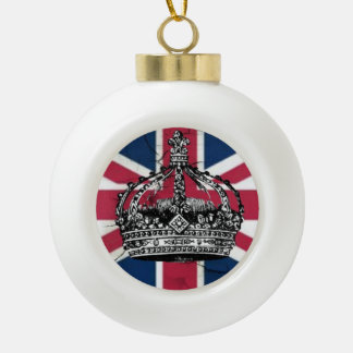 Union Jack Flag Queen of England Diamond Jubilee Ceramic Ball Decoration