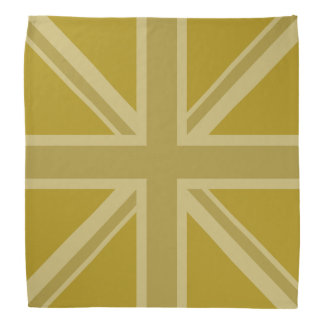Union Jack/Flag Square Golds Bandana