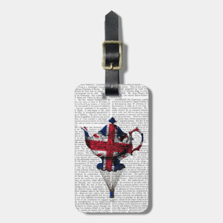 Union Jack Flying Teapot Luggage Tag
