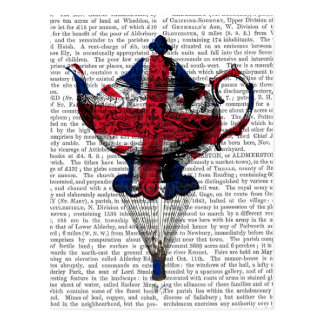 Union Jack Flying Teapot Postcard