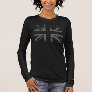 Union Jack (grunge silver UK flag) Long Sleeve T-Shirt