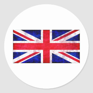 Union Jack grunge t-shirts and gifts Round Sticker