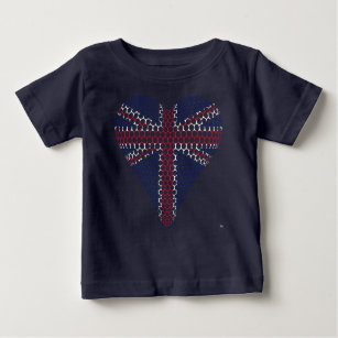 Union Jack Heart Baby T-Shirt