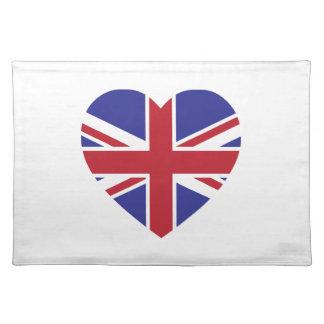 Union Jack Heart Cloth Placemat
