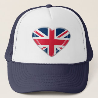 Union Jack Heart Design Trucker Hat