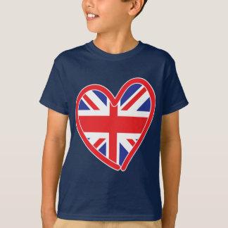 Union Jack Heart Flag T-Shirt