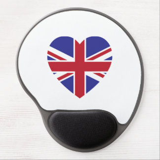 Union Jack Heart Gel Mousepad