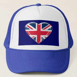 Union Jack Heart Gifts Trucker Hat