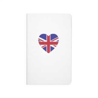 Union Jack Heart Pocket Journal