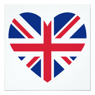 Union Jack Heart Shape Card