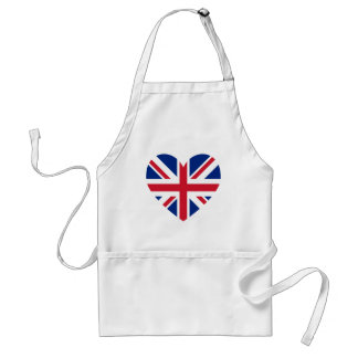 Union Jack Heart Shape Standard Apron