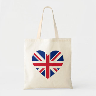Union Jack Heart Shape Tote Bag