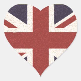Union Jack Heart Stickers