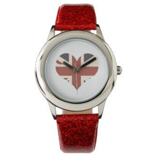 Union Jack Heart Watch