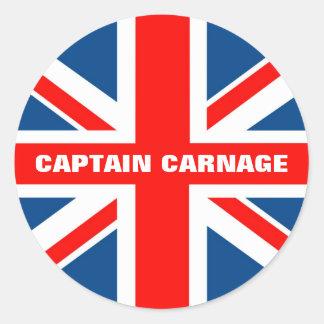 Union Jack humorous Sticker