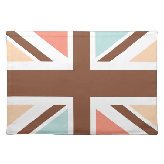 Union Jack - In Designer Brown Place Mats