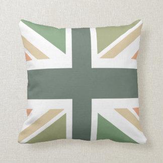 Union Jack - In Designer Pea Soup Throw Cushion