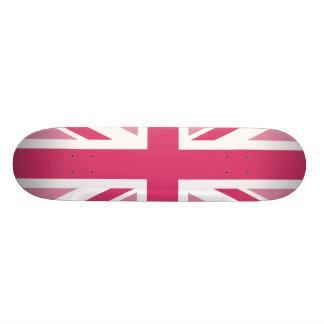 Union Jack ~ In Girly Pinks Custom Skateboard