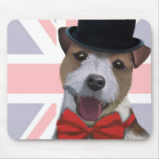 Union Jack Jack Russell Mouse Mat