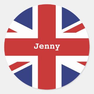 Union Jack, Jenny Classic Round Sticker