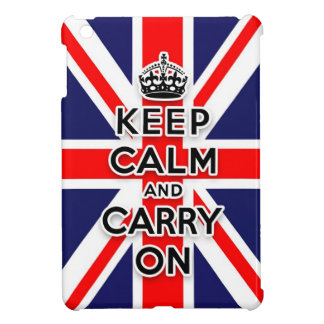 Union Jack  keep calm and carry on Cover For The iPad Mini