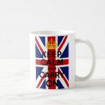 Union Jack Keep Calm and Carry On Mug