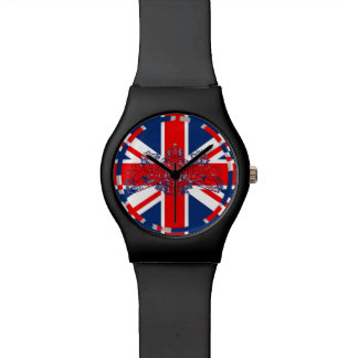 Union Jack Lion & Unicorn British Coat of Arms Watch